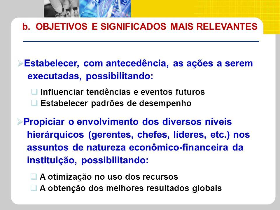b. OBJETIVOS E SIGNIFICADOS MAIS RELEVANTES