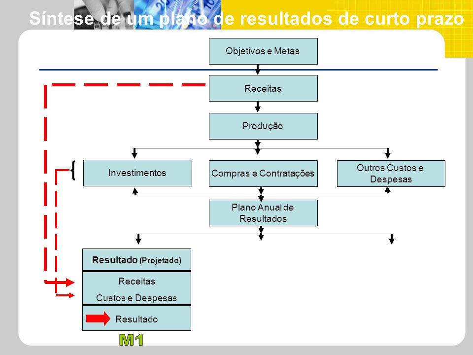 Síntese de um plano de resultados de curto prazo Resultado (Projetado)