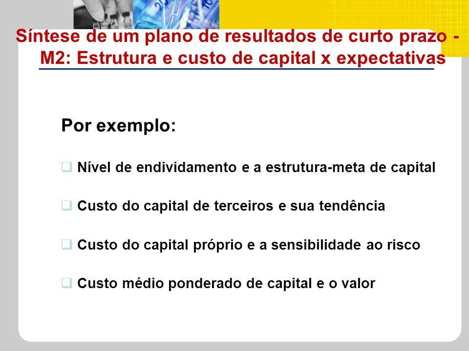 Síntese de um plano de resultados de curto prazo - M2: Estrutura e custo de capital x expectativas