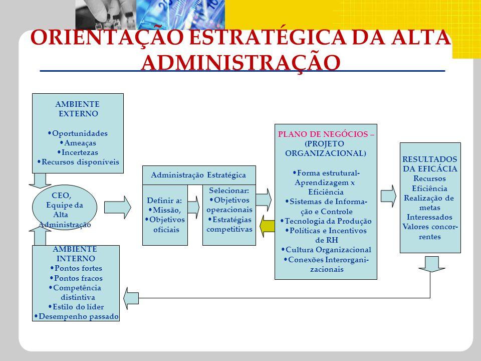 ORIENTAÇÃO ESTRATÉGICA DA ALTA ADMINISTRAÇÃO