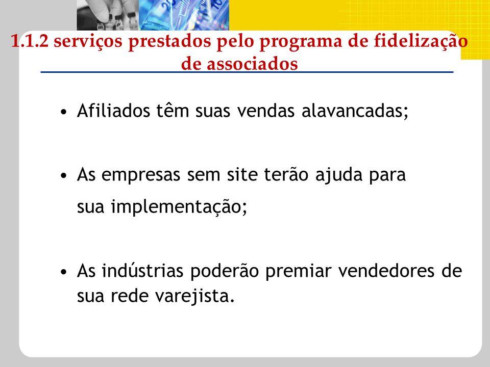 1.1.2 serviços prestados pelo programa de fidelização de associados
