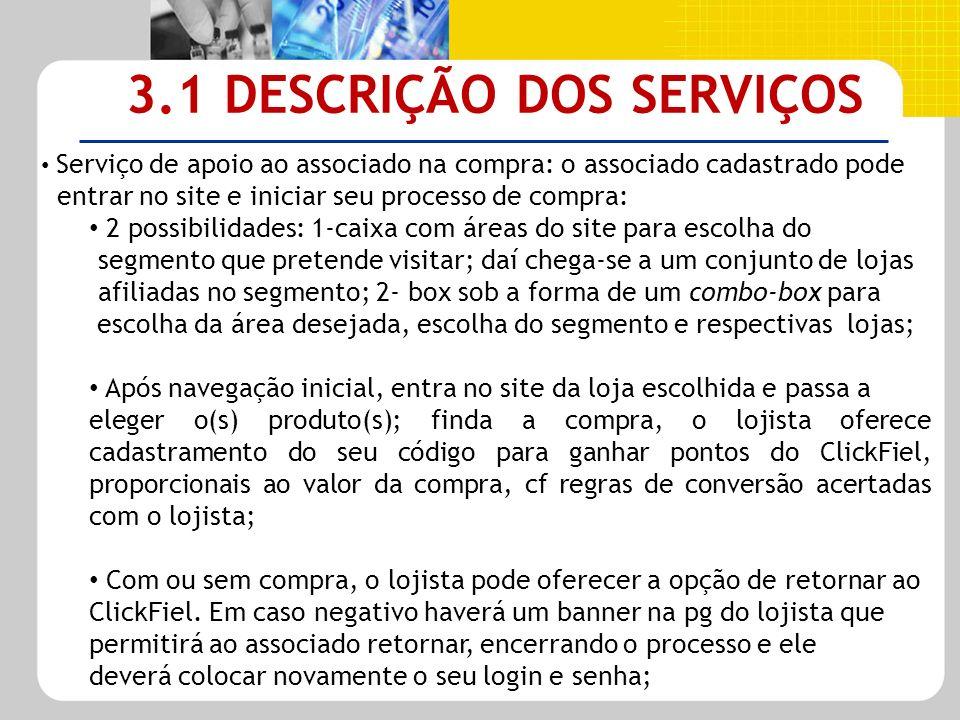 3.1 DESCRIÇÃO DOS SERVIÇOS