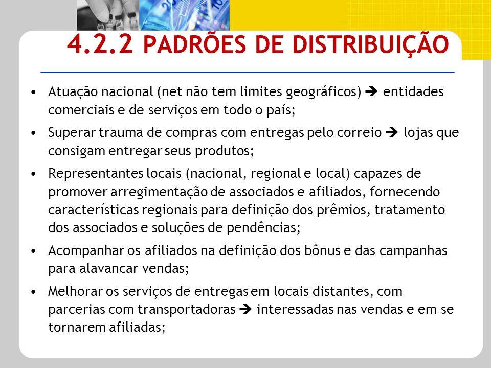 4.2.2 PADRÕES DE DISTRIBUIÇÃO