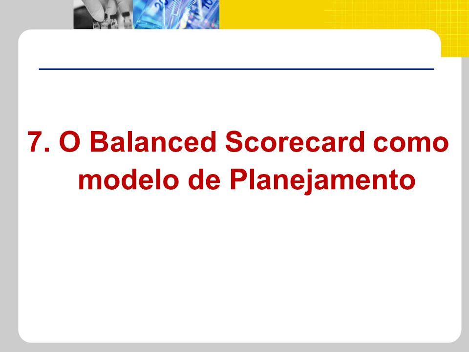 7. O Balanced Scorecard como modelo de Planejamento