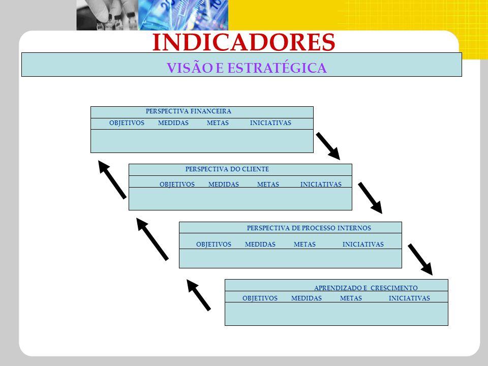 INDICADORES VISÃO E ESTRATÉGICA PERSPECTIVA FINANCEIRA