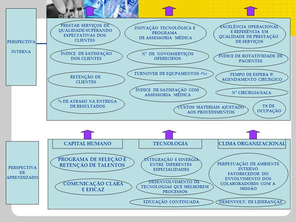 CAPITAL HUMANO TECNOLOGIA CLIMA ORGANIZACIONAL PROGRAMA DE SELEÇÃO E