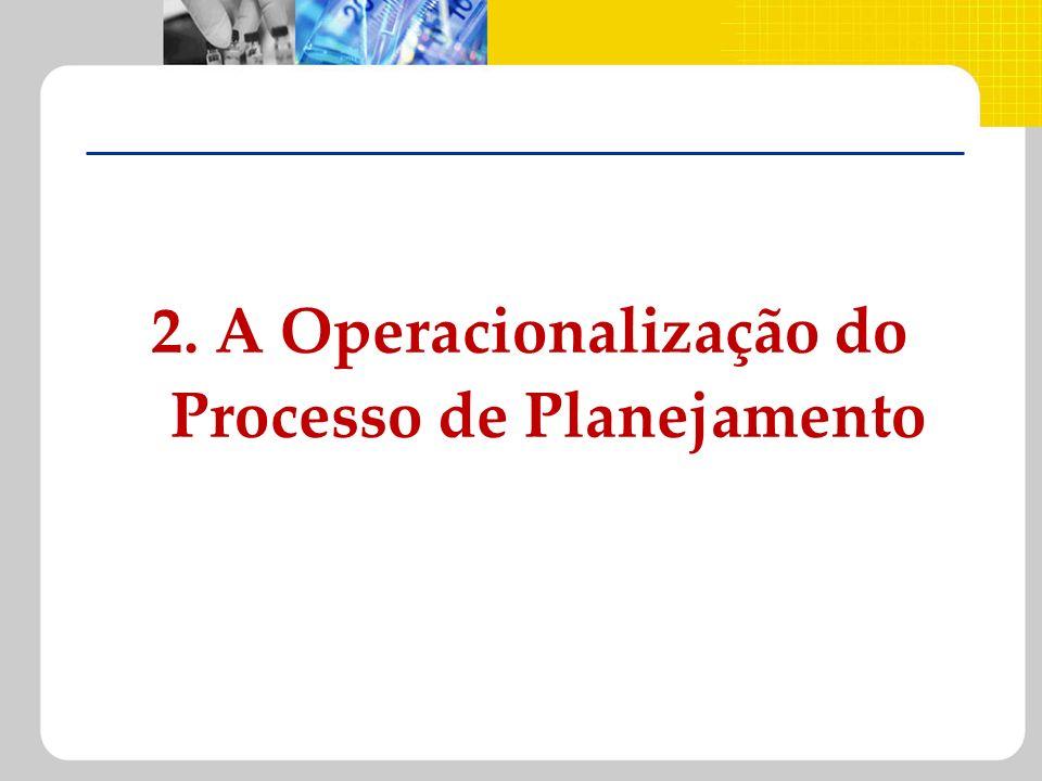 2. A Operacionalização do Processo de Planejamento
