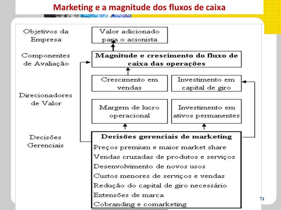 Marketing e a magnitude dos fluxos de caixa