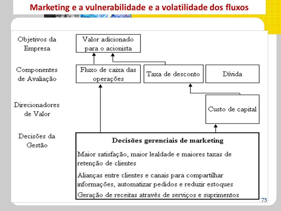 Marketing e a vulnerabilidade e a volatilidade dos fluxos