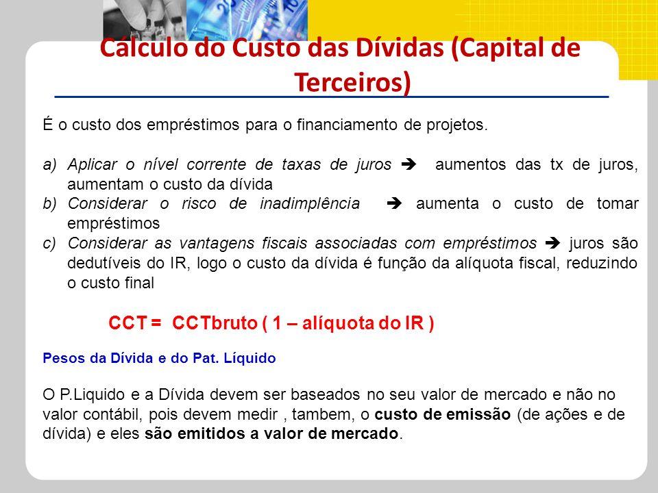 Cálculo do Custo das Dívidas (Capital de Terceiros)