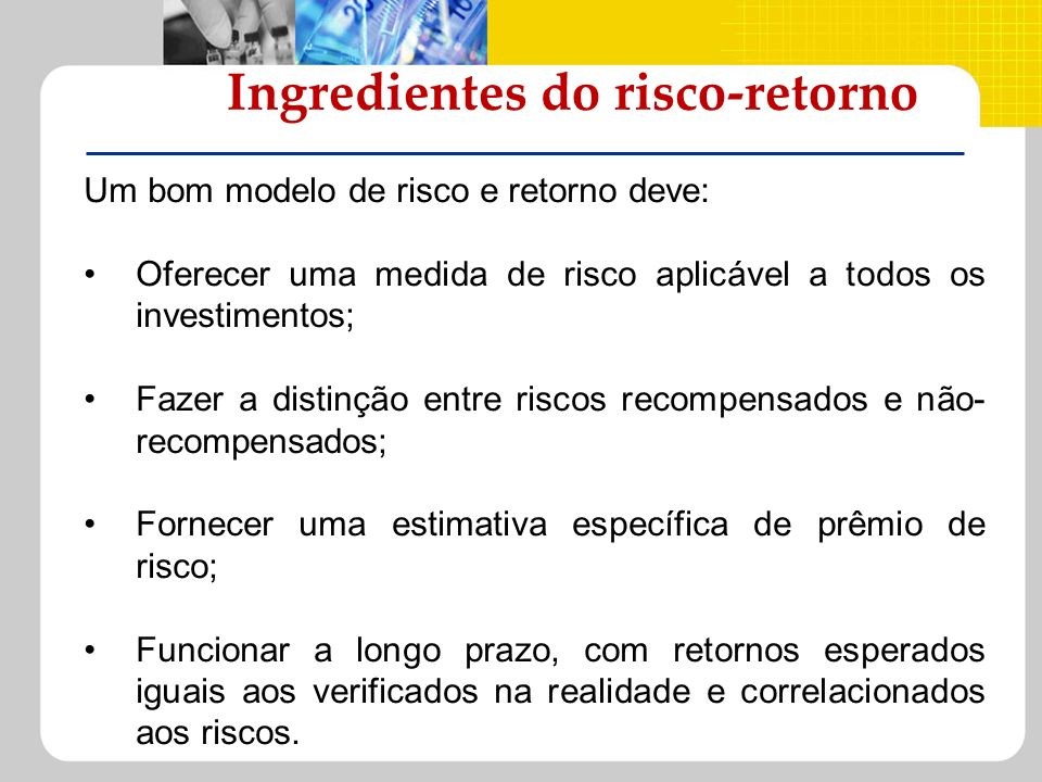 Ingredientes do risco-retorno