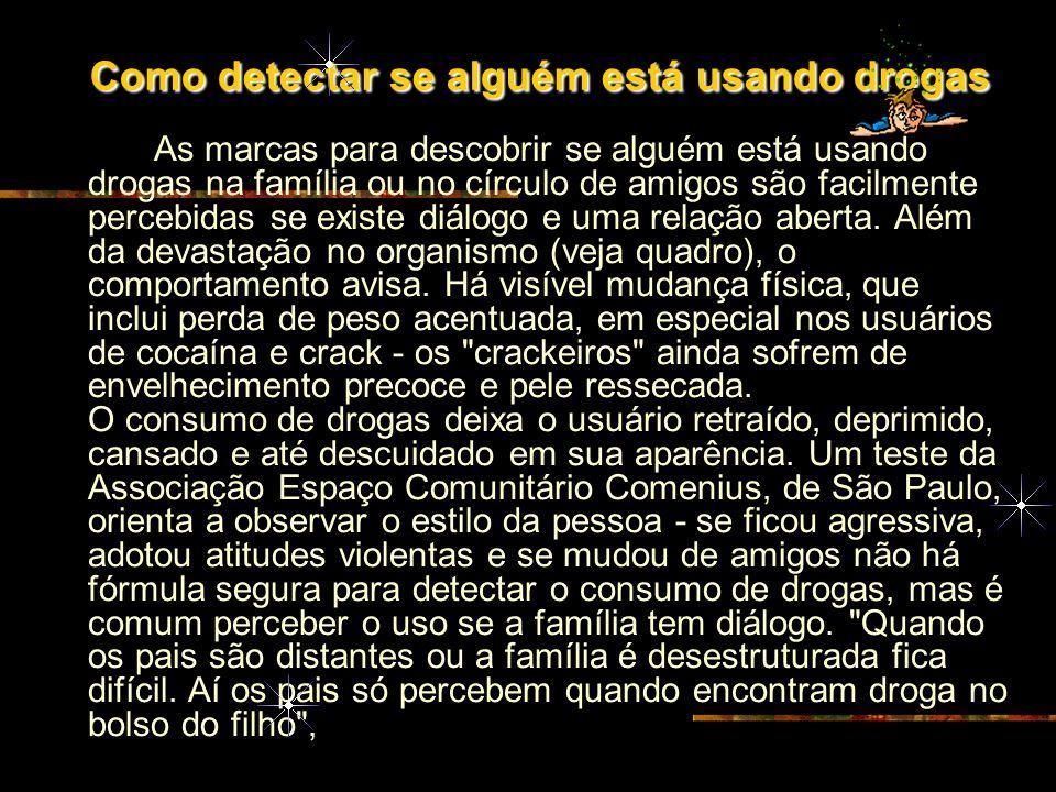 Como detectar se alguém está usando drogas