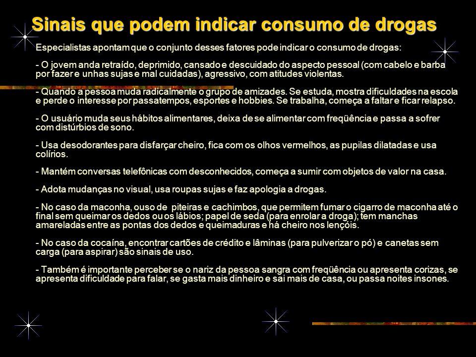 Sinais que podem indicar consumo de drogas