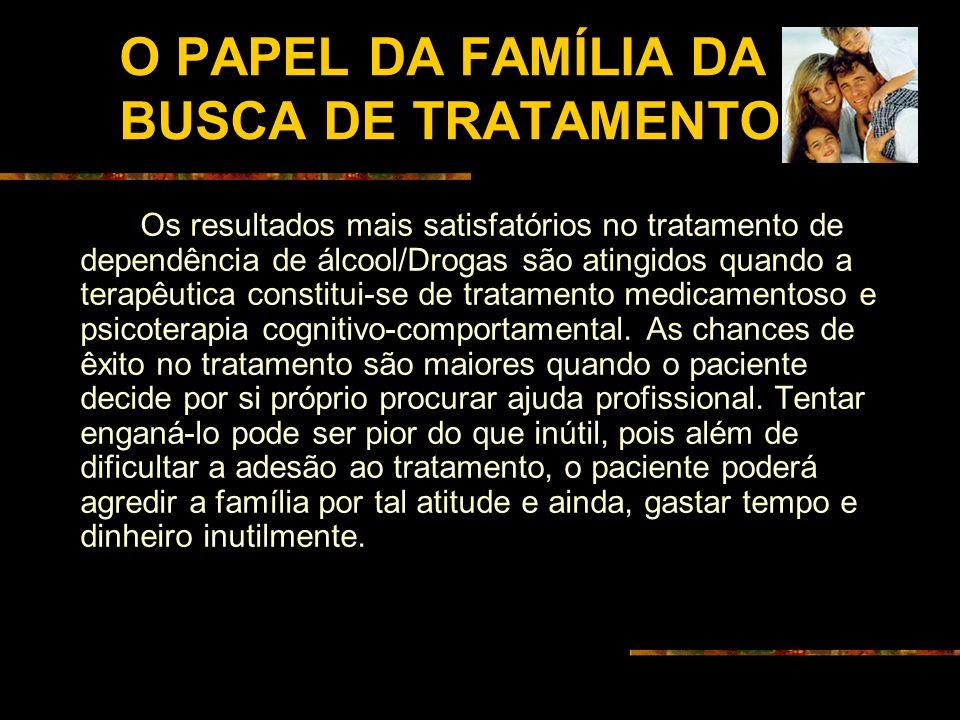 O PAPEL DA FAMÍLIA DA BUSCA DE TRATAMENTO