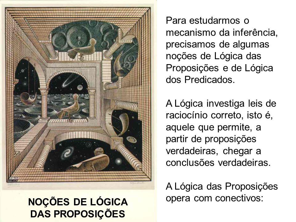 NOÇÕES DE LÓGICA DAS PROPOSIÇÕES