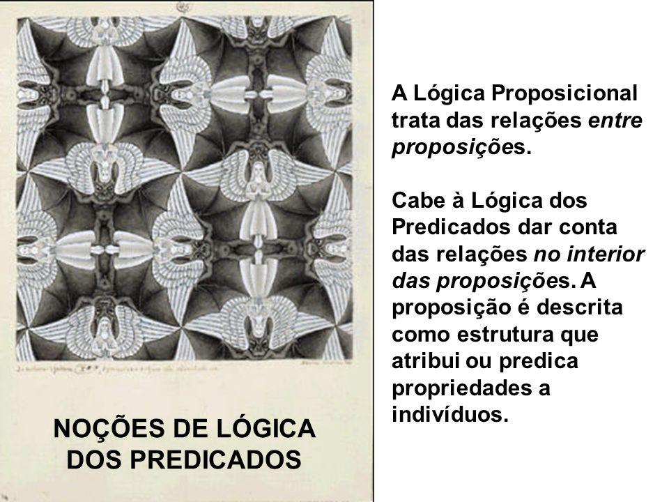 NOÇÕES DE LÓGICA DOS PREDICADOS