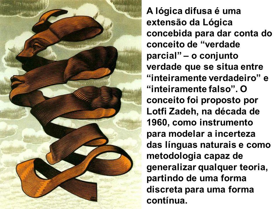A lógica difusa é uma extensão da Lógica concebida para dar conta do conceito de verdade parcial – o conjunto verdade que se situa entre inteiramente verdadeiro e inteiramente falso .