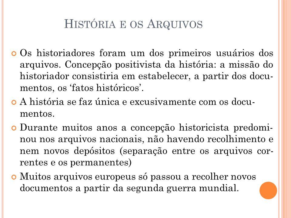 História e os Arquivos