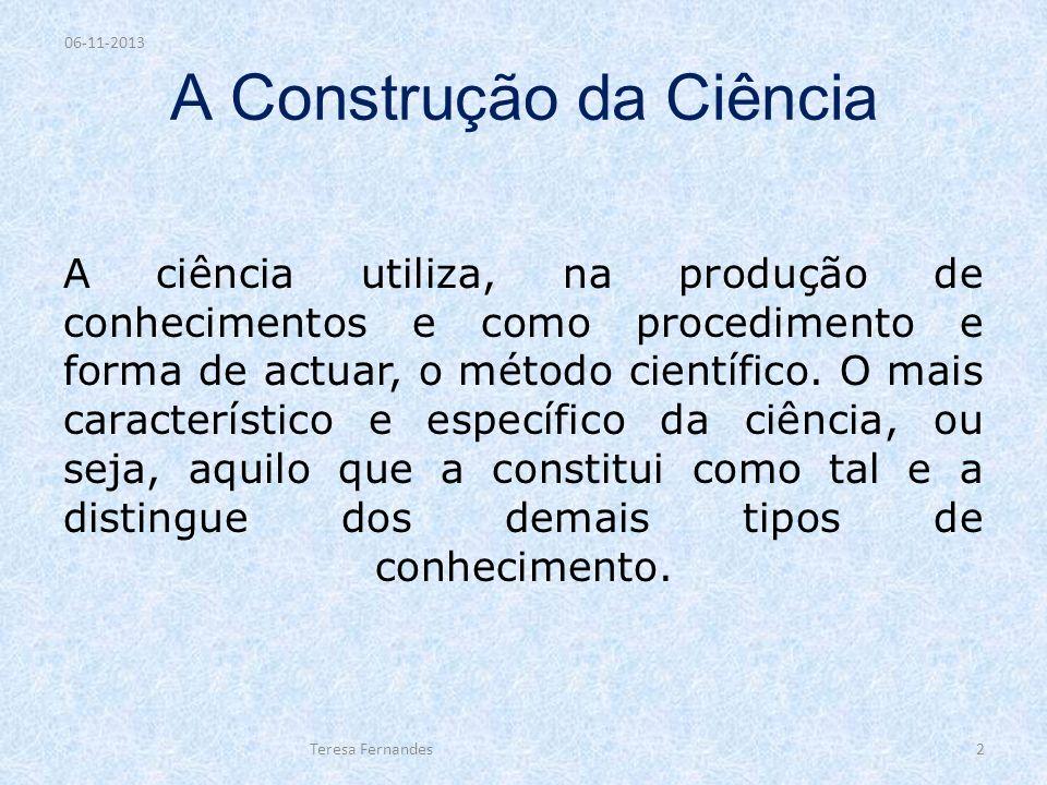 A Construção da Ciência