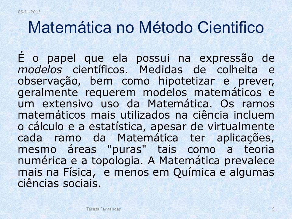 Matemática no Método Cientifico