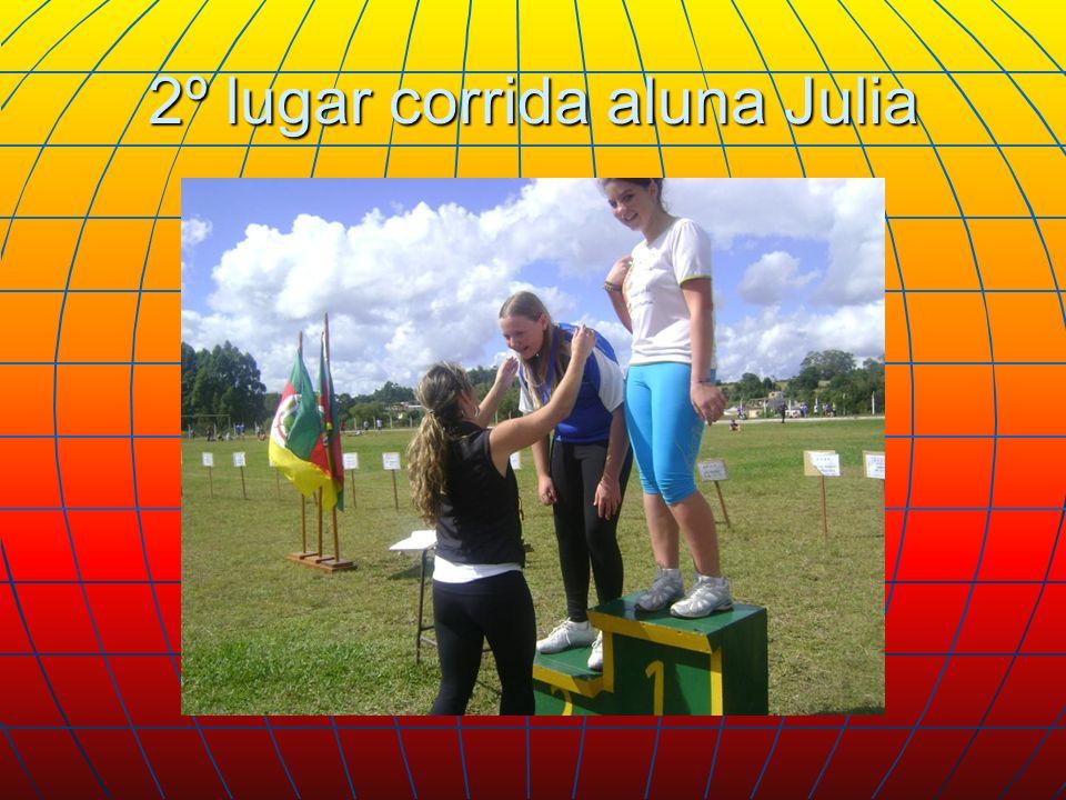 2º lugar corrida aluna Julia