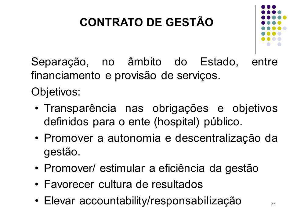 Promover a autonomia e descentralização da gestão.