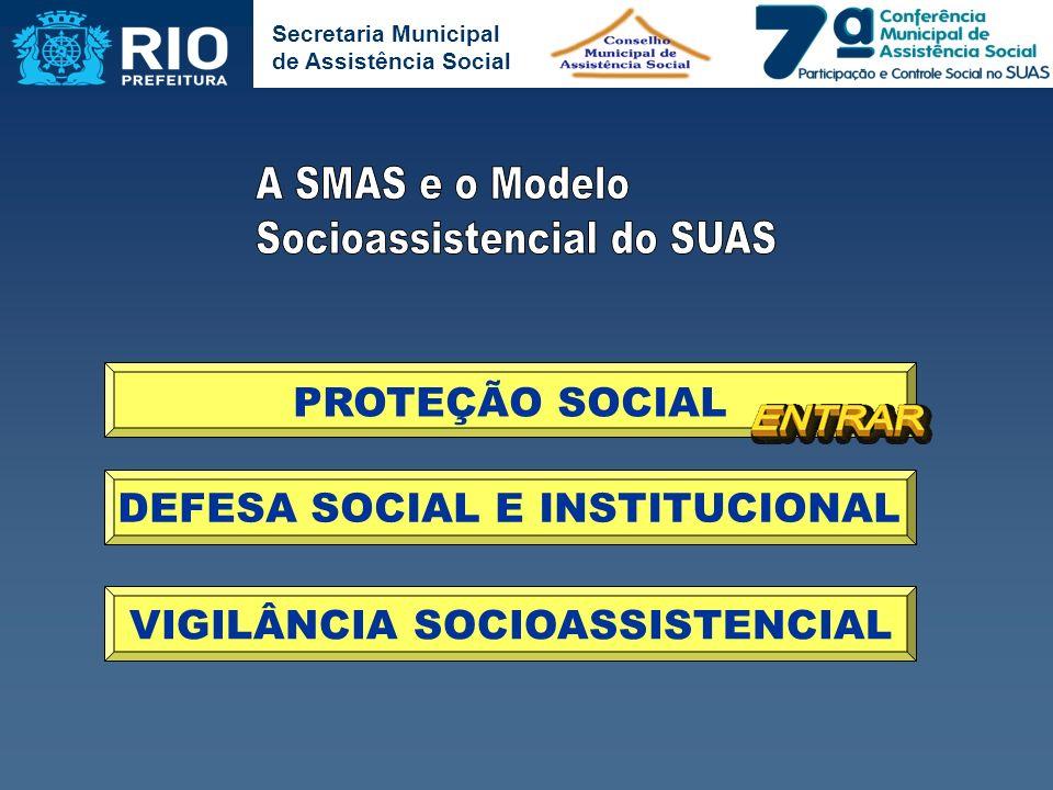 DEFESA SOCIAL E INSTITUCIONAL VIGILÂNCIA SOCIOASSISTENCIAL