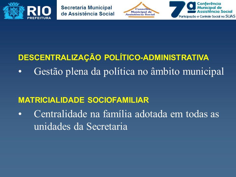 Gestão plena da política no âmbito municipal