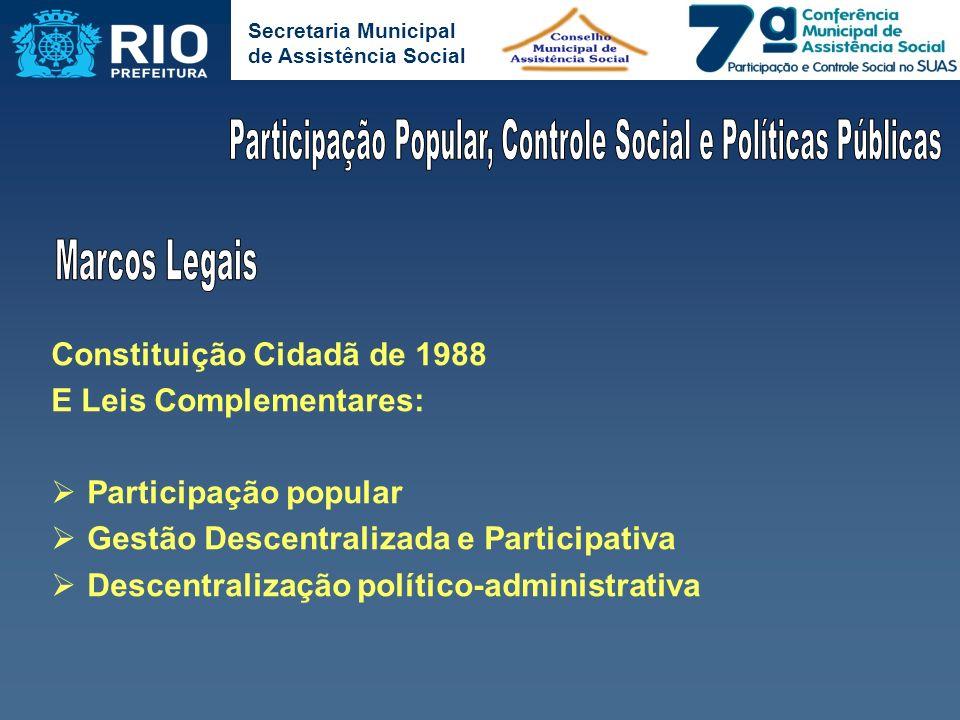 Participação Popular, Controle Social e Políticas Públicas