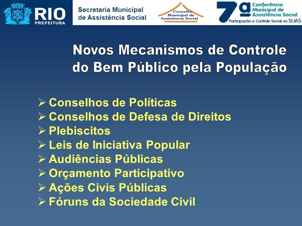 Novos Mecanismos de Controle do Bem Público pela População