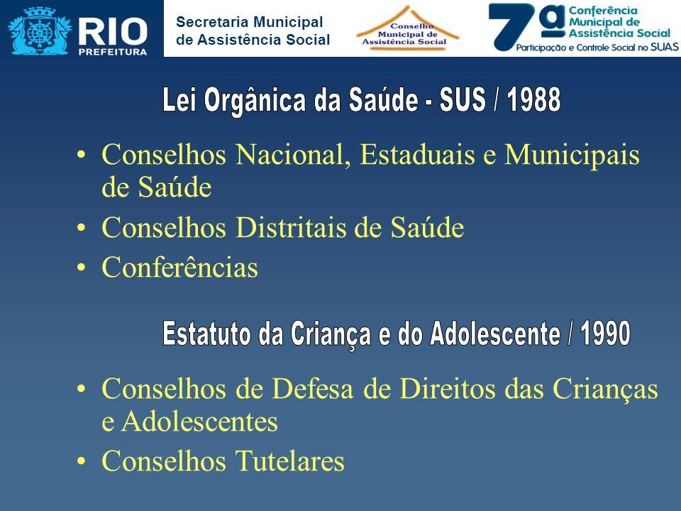 Lei Orgânica da Saúde - SUS / 1988