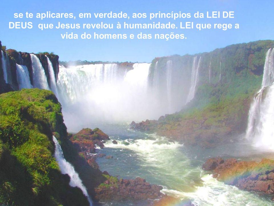 se te aplicares, em verdade, aos princípios da LEI DE DEUS que Jesus revelou à humanidade.