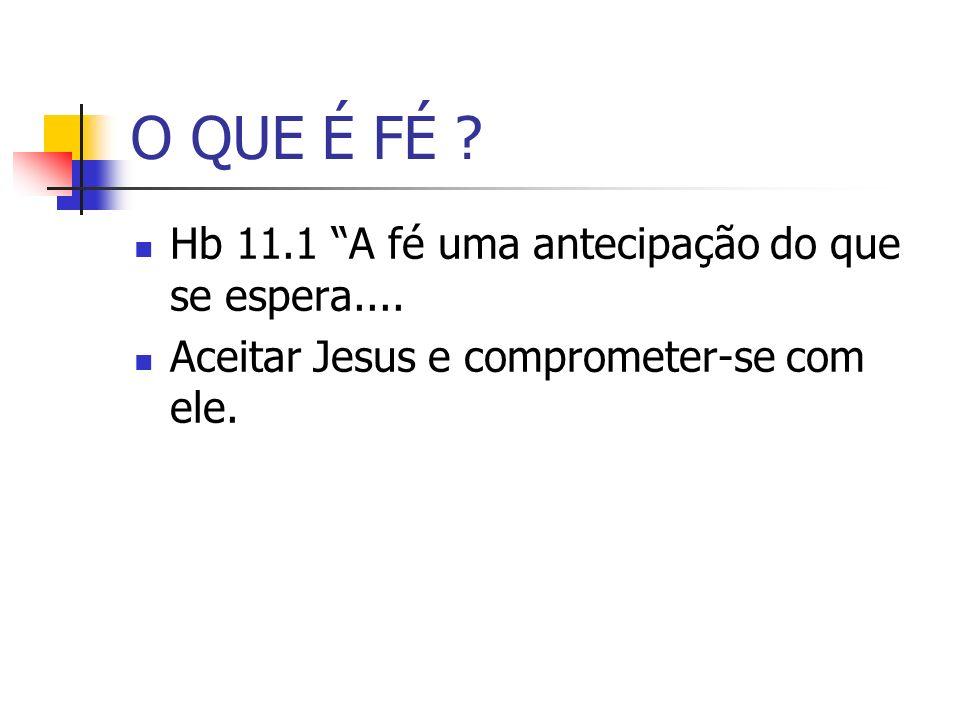 O QUE É FÉ Hb 11.1 A fé uma antecipação do que se espera....