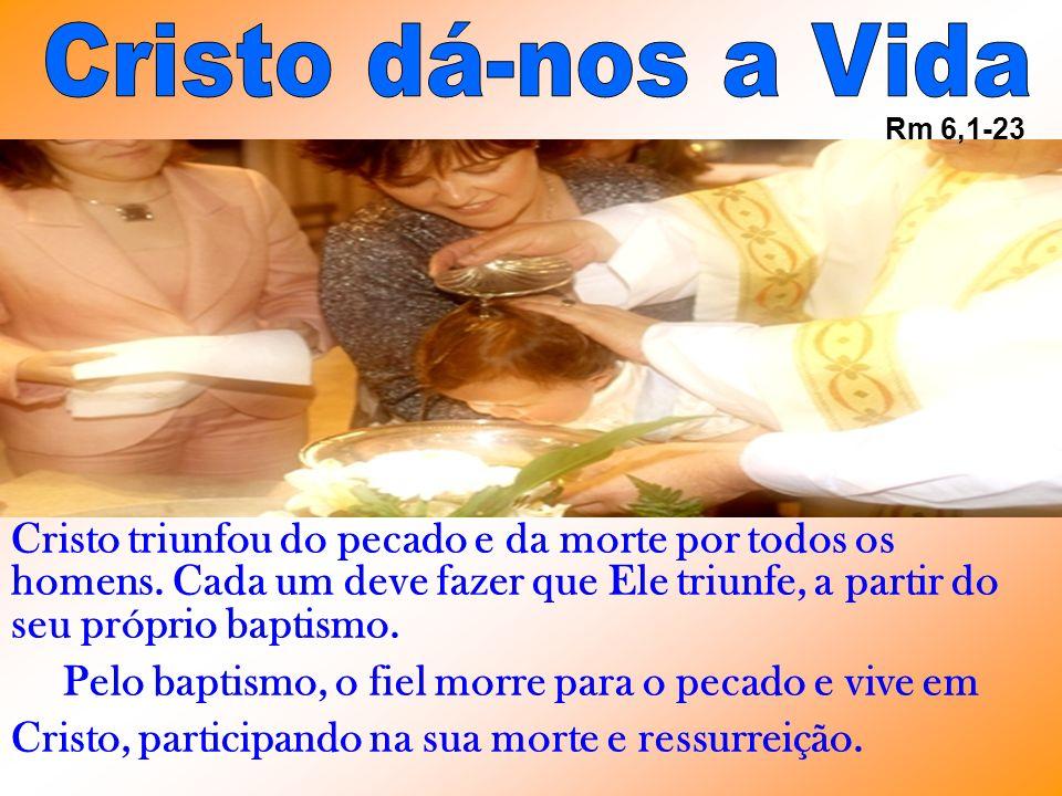 Cristo dá-nos a Vida Rm 6,1-23.
