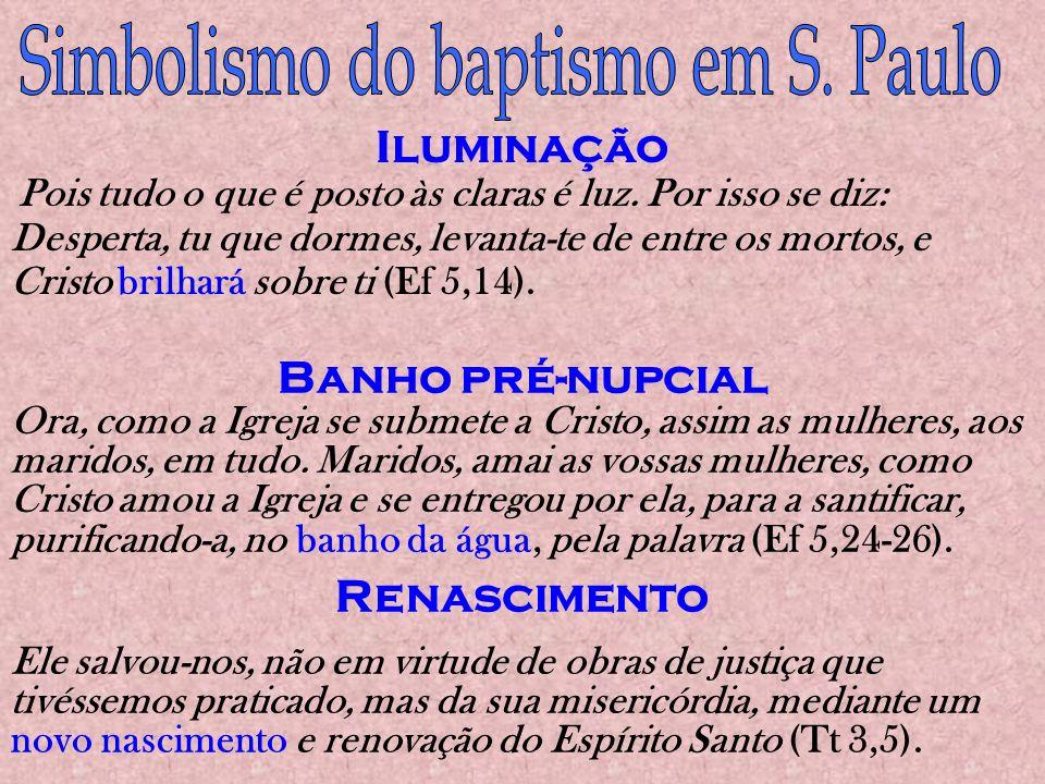 Simbolismo do baptismo em S. Paulo