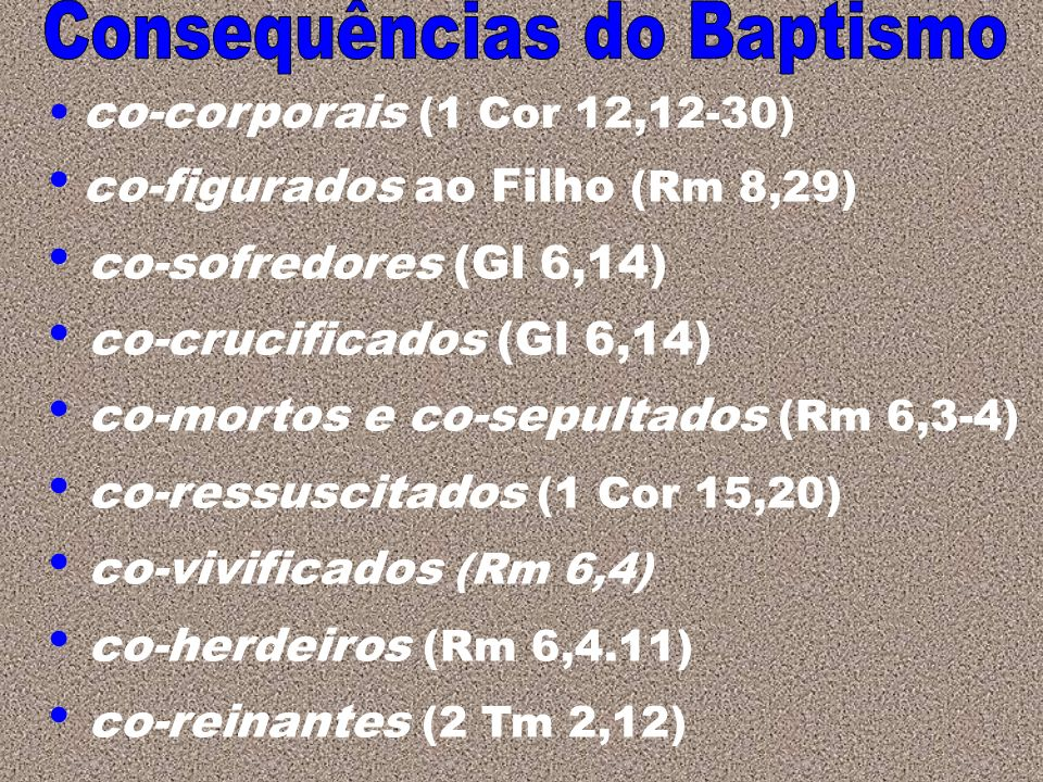 Consequências do Baptismo