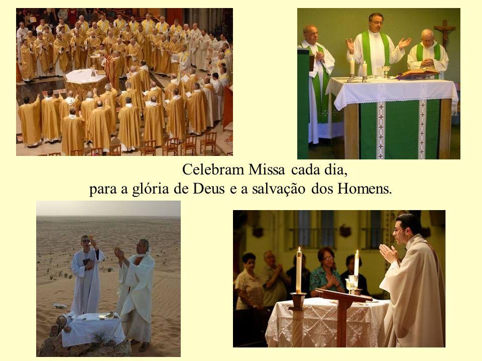 Celebram Missa cada dia, para a glória de Deus e a salvação dos Homens.