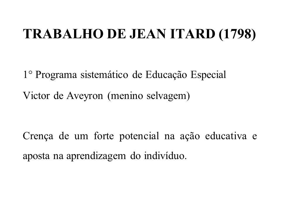 TRABALHO DE JEAN ITARD (1798)