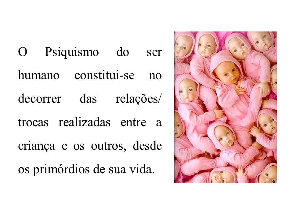 O Psiquismo do ser humano constitui-se no decorrer das relações/ trocas realizadas entre a criança e os outros, desde os primórdios de sua vida.