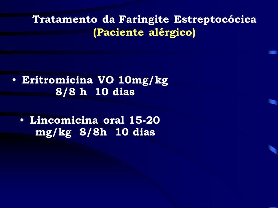 Tratamento da Faringite Estreptocócica (Paciente alérgico)