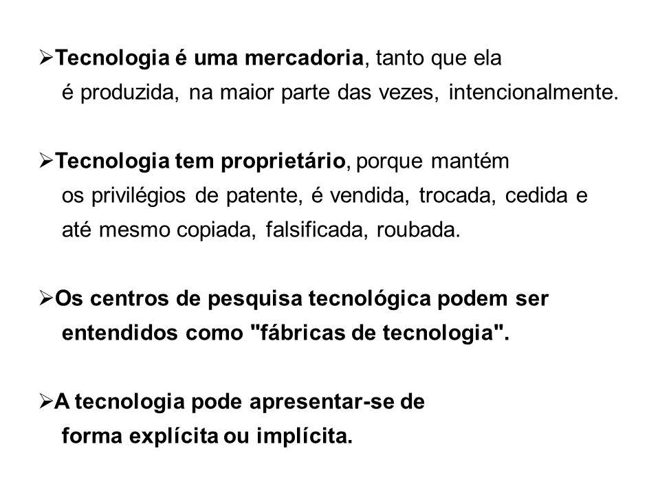 Tecnologia é uma mercadoria, tanto que ela