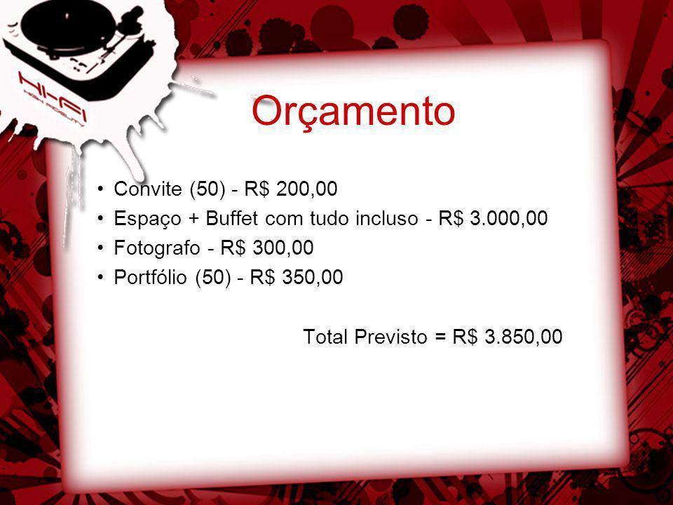Orçamento Convite (50) - R$ 200,00