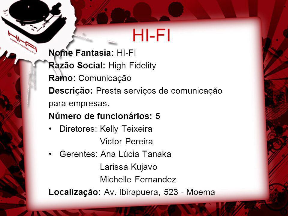 HI-FI Nome Fantasia: HI-FI Razão Social: High Fidelity