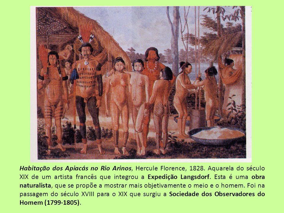 Habitação dos Apiacás no Rio Arinos, Hercule Florence, 1828