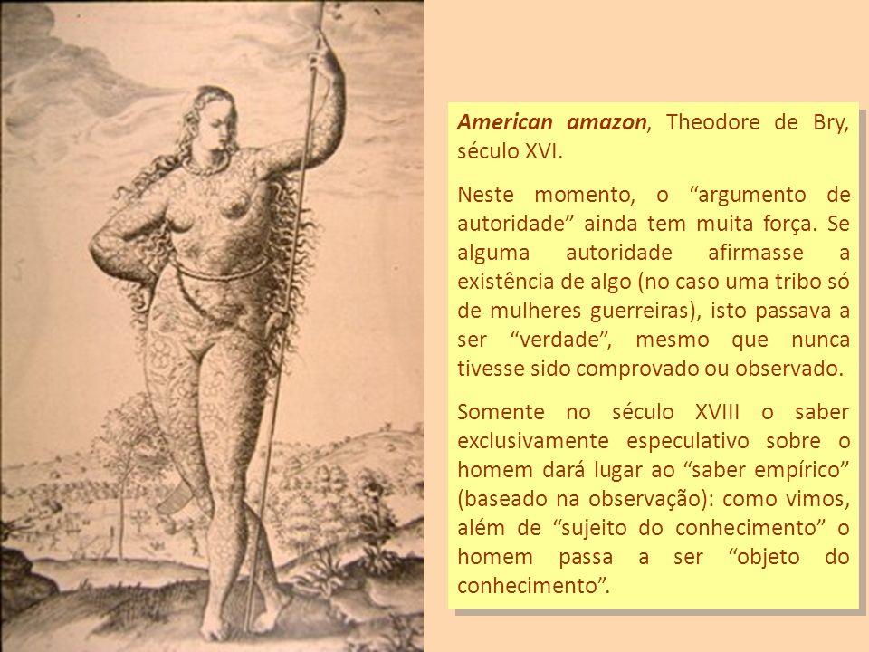 American amazon, Theodore de Bry, século XVI.
