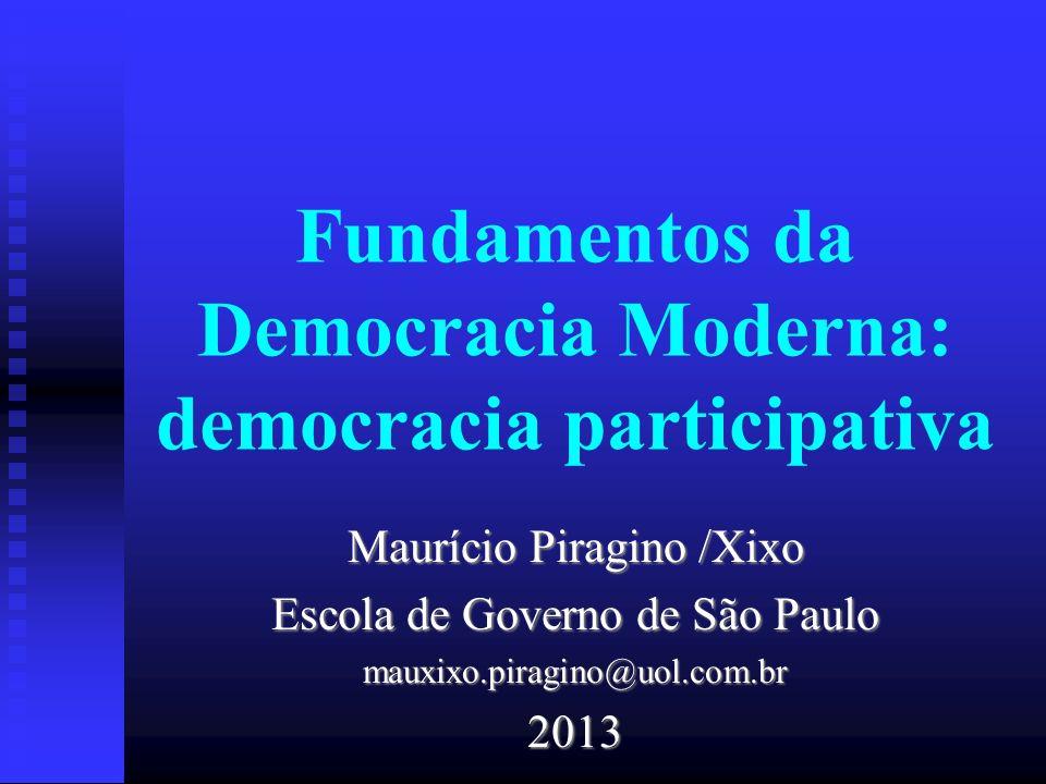Fundamentos da Democracia Moderna: democracia participativa