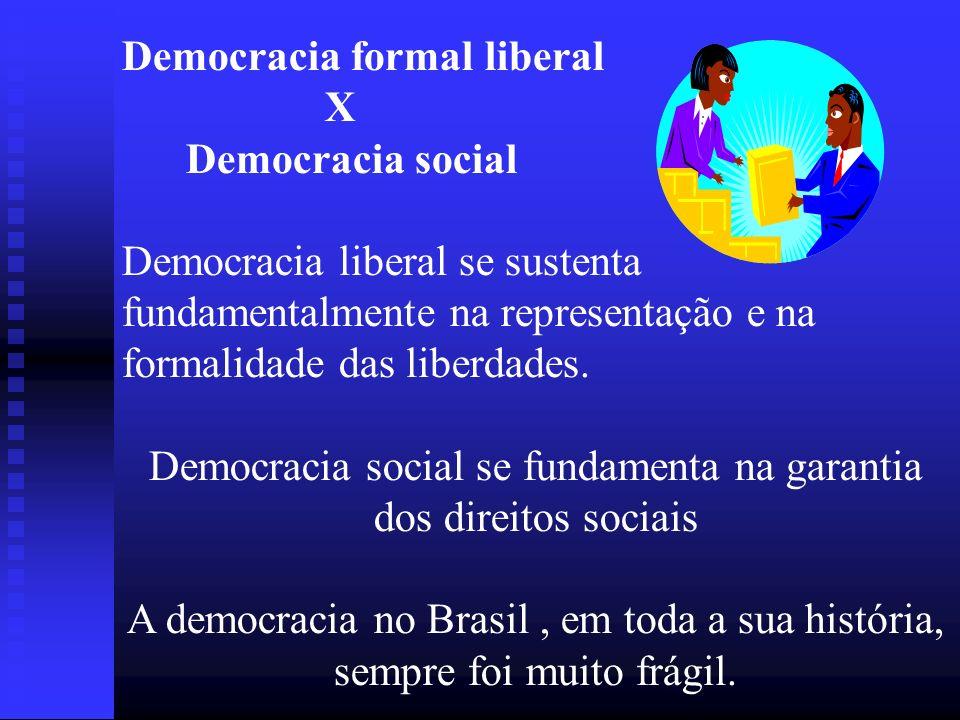 Democracia social se fundamenta na garantia dos direitos sociais