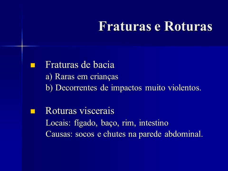 Fraturas e Roturas Fraturas de bacia Roturas viscerais