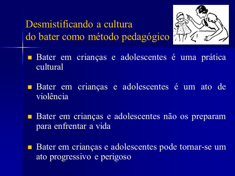 Desmistificando a cultura do bater como método pedagógico