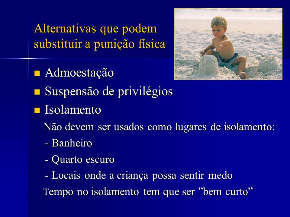 Alternativas que podem substituir a punição física